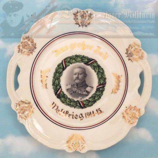 PLATE - PATRIOTIC FEATURING GENERALFELDMARSCHALL PAUL VON HINDENBURG