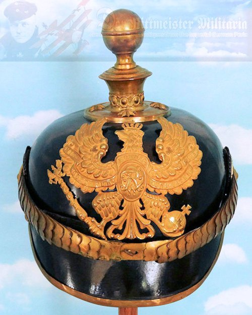 PRUSSIA - KUGELHELM - OFFICER- FELDARTILLERIE - WITH SPECIAL WAPPEN - Imperial German Military Antiques Sale