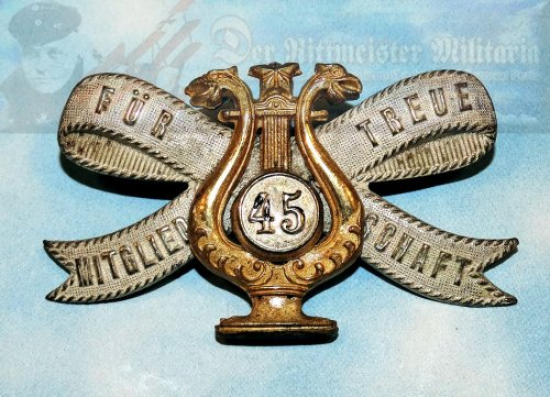 GERMANY - BADGE - PATRIOTIC MUSICAL ASSOCIATION - Imperial German Military Antiques Sale