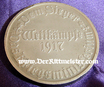 GERMANY - TABLE MEDAL - CASED - Imperial German Military Antiques Sale