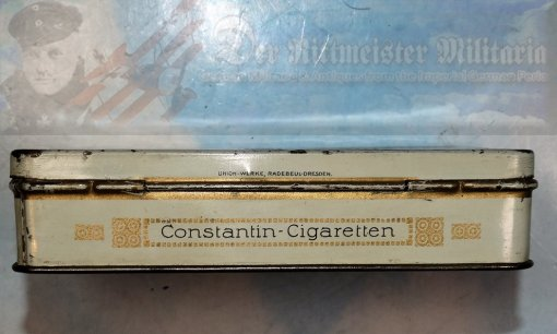 GERMANY - CIGARETTE TIN - CONSTANTIN BRAND - KONSTANTIN KAISERPREIS - FIFTY CIGARETTES - Imperial German Military Antiques Sale