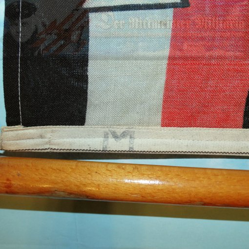 PRUSSIA - FLAG - KRIEGSFLAGGE - KAISERLICHE MARINE SHIP WITH A PARTIAL FLAGSTAFF - Imperial German Military Antiques Sale