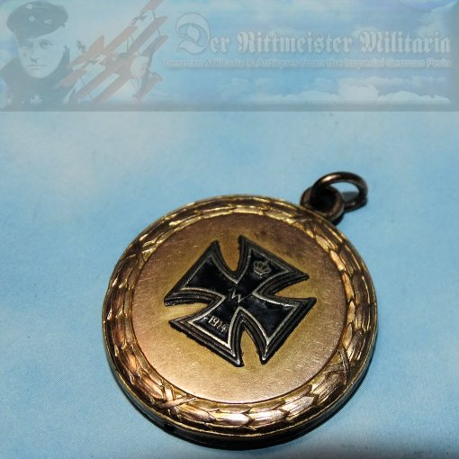 PATRIOTIC 1914 IRON CROSS PENDANT - Imperial German Military Antiques Sale