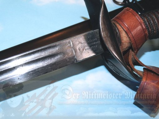COLONIAL - SWORD - OFFICER - WITH SWORD HANGER AND PORTÉPÉE - FIRST PATTERN WITH CROWN - Imperial German Military Antiques Sale