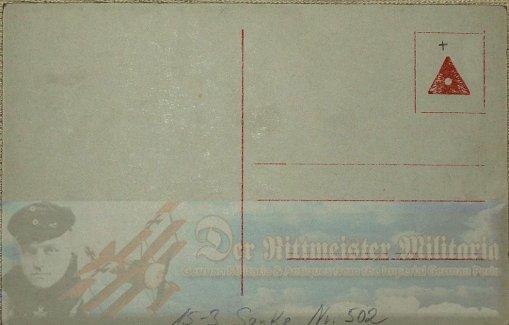 PRUSSIA - SANKE CARD - LEUTNANT ERWIN BÖHME - AVIATION - NR 502