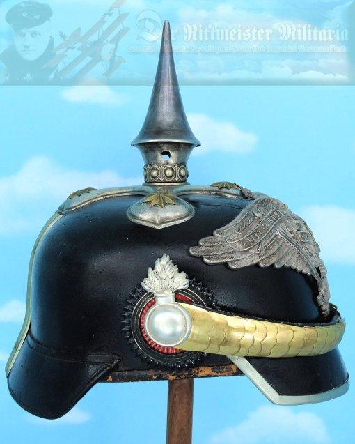 PRUSSIA - PICKELHAUBE - OFFICER - GRENADIER-REGIMENT ZU PFERDE VON DERFFLINGER (NEUMÄRKISCHES) NR 3 - Imperial German Military Antiques Sale