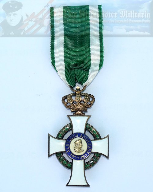 SAXONY - KNIGHT'S CROSS - ALBRECHT ORDER 1st CLASS WITH CROWN.