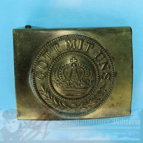PRUSSIA - BELT BUCKLE - PRE WAR - BRASS