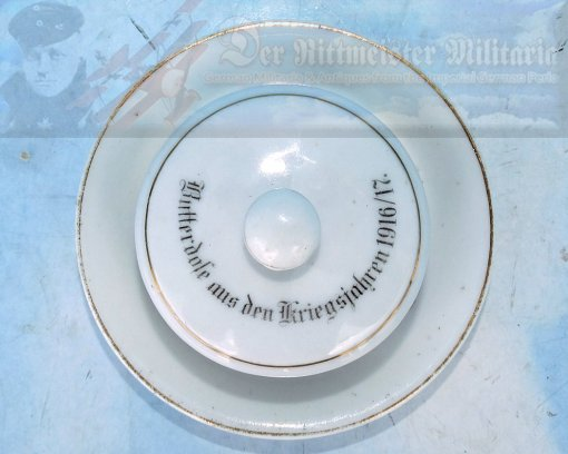 GERMANY - BUTTERDOSE (BUTTER DISH) - SMALL - Imperial German Military Antiques Sale