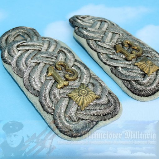 GERMANY - SHOULDER BOARDS - OBERSTLEUTNANT - UNIDENTIFIED REGIMENT - Imperial German Military Antiques Sale