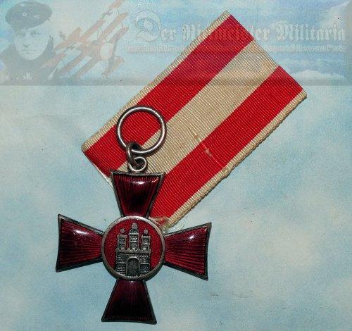 HAMBURG - HANSEATIC CROSS - Imperial German Military Antiques Sale