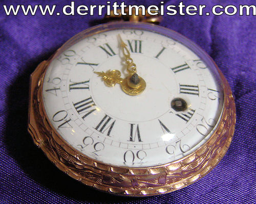 ENGLAND - POCKET WATCH - 18th CENTURY ENGLISH SKELETON POCKET WATCH - Imperial German Military Antiques Sale
