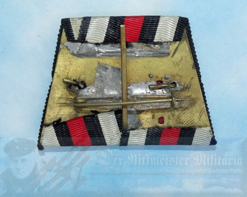 PRUSSIA - RIBBON BAR - TWO PLACE - Imperial German Military Antiques Sale