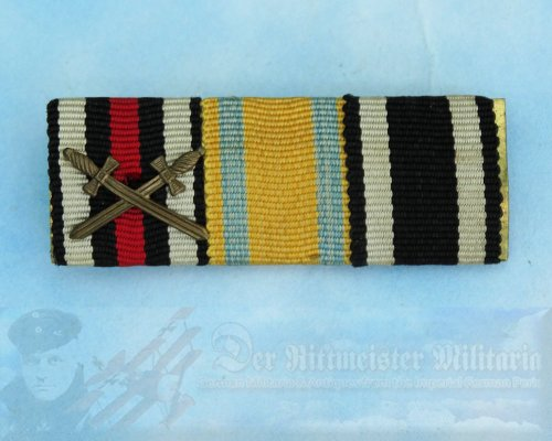 SAXONY - RIBBON BAR - THREE PLACE - FRIEDRICH AUGUST