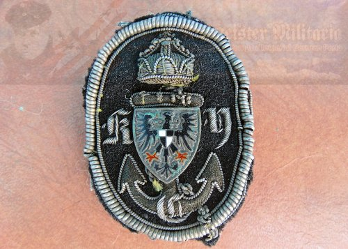 PRUSSIA - CAP BADGE - K.Y.C. YACHT CLUB - THE ROYAL PRUSSIAN YACHT CLUB.