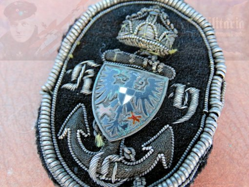 PRUSSIA - CAP BADGE - K.Y.C. YACHT CLUB - THE ROYAL PRUSSIAN YACHT CLUB - Imperial German Military Antiques Sale
