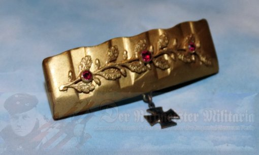 GERMANY - PATRIOTIC PIN - TRENCH ART - MADE FROM A DRIVING BAND OF AN ARTILLERY SHELL - Imperial German Military Antiques Sale