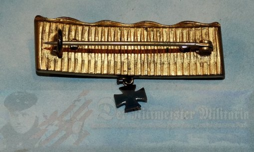 GERMANY - PATRIOTIC PIN - TRENCH ART - MADE FROM A DRIVING BAND OF AN ARTILLERY SHELL