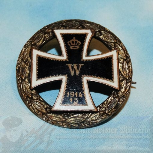 GERMANY - PATRIOTIC PIN - IRON CROSS - Imperial German Military Antiques Sale
