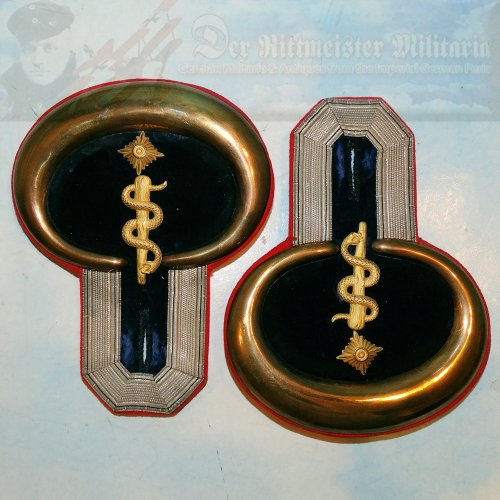 PRUSSIA - EPAULETS - MEDICAL DOCTOR - Imperial German Military Antiques Sale