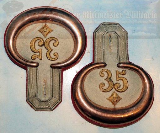 PRUSSIA – EPAULETES – OBERLEUTNANT – BEZERKSKOMMANDO Nr 35 - IN THE ORIGINAL PRESENTATION CARTON - Imperial German Military Antiques Sale
