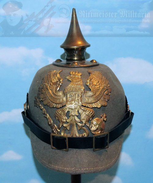 GERMANY - PICKELHAUBE / SPIKED HELMET - ENLISTED MAN - EARLY WAR – ERSATZ