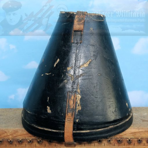 GERMANY - PICKELHAUBE/SPIKE HELMET TRAVEL/STORAGE CASE - SHORT SIZE - WITH BOTTOM - Imperial German Military Antiques Sale
