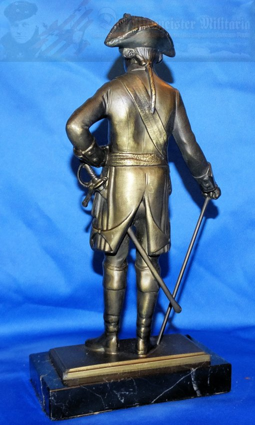GERMANY - STATUTE - KÖNIG FREDERICK THE GREAT - BRONZE - Imperial German Military Antiques Sale