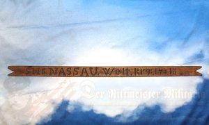 GERMANY - SEAMAN'S STICK - WWI - SHAPE OF A VIVAT RIBBON - S.M.S. NASSAU
