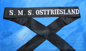 GERMANY - CAP TALLY - ENLISTED MAN  - S.M.S. OSTFRIESLAND