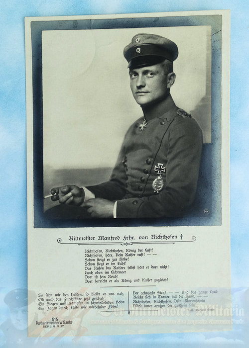 GERMANY - SANKE CARD - MANFRED VON RICHTHOFEN - DEATH CARD - NR 619