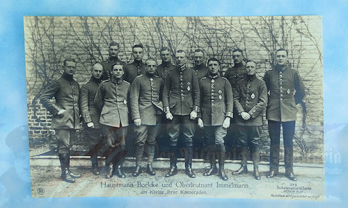 GERMANY - SANKE CARD - HAUPTMANN OSWALD BOELCKE, OBERLEUTNANT MAX IMMELMANN, AND SEVERAL OTHER PILOTS - NR 373