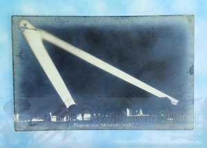 GERMANY - SANKE CARD - AIRPLANE ILLUMINATED BY SEARCHLIGHTS - NR 1032