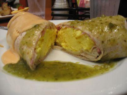 Mexican Eggs Benedict Burrito 2