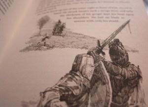 "Illustration aus dem Roman ""A knight of the Seven Kingdoms"""