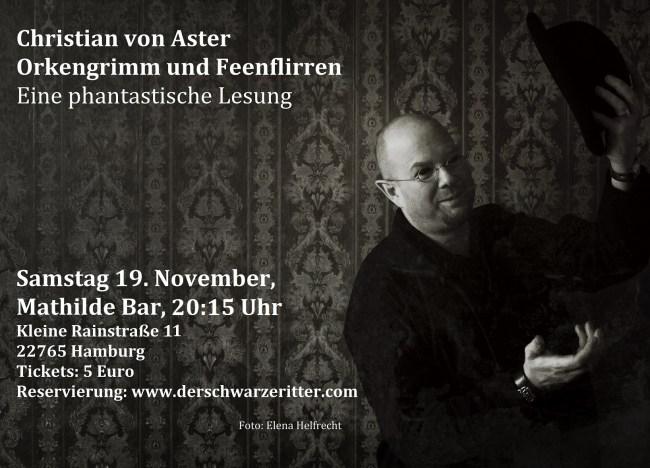 Lesung Christian von Aster in Hamburg
