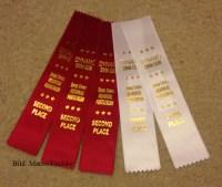 Schleife als Auszeichnung anstatt Medaillen.