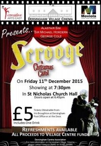 film scrooge dersingham village cinema