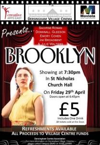 village cinema poster for brooklyn