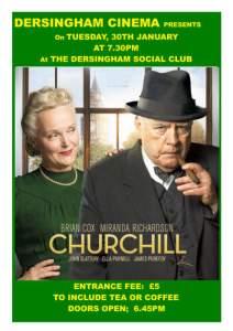 poster for village cinema film Churchill