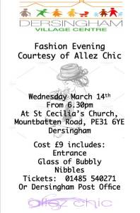 poster for fashion evening