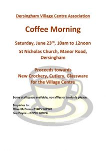 poster for coffee morning june 2018