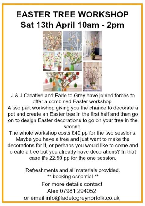 Easter Tree Workshop poster