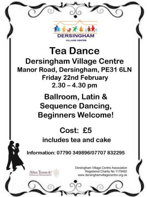 Tea Dance Poster February 2019