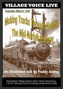 Poster for talk on Mid-Norfolk Railway