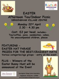 Poster for Easter Indoor Picnic