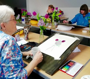 Flower Painting workshop photo