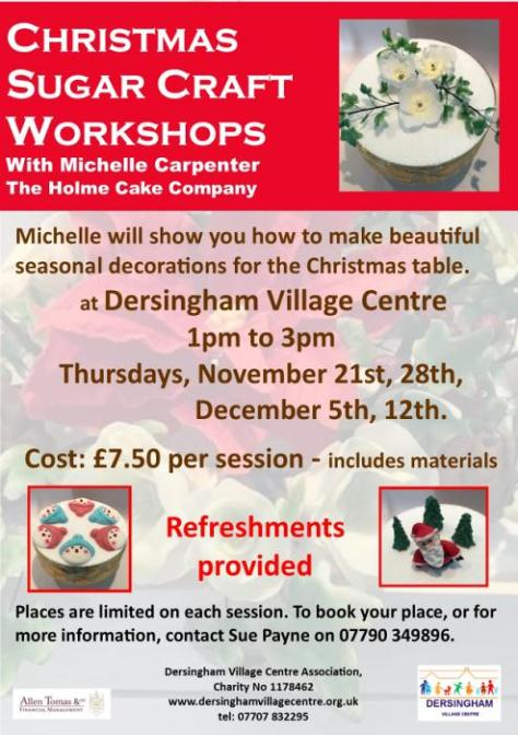 sugarcraft workshops poster