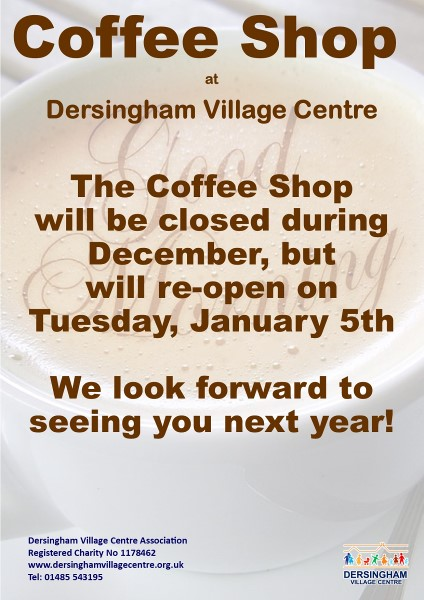 coffee shop temporary closure