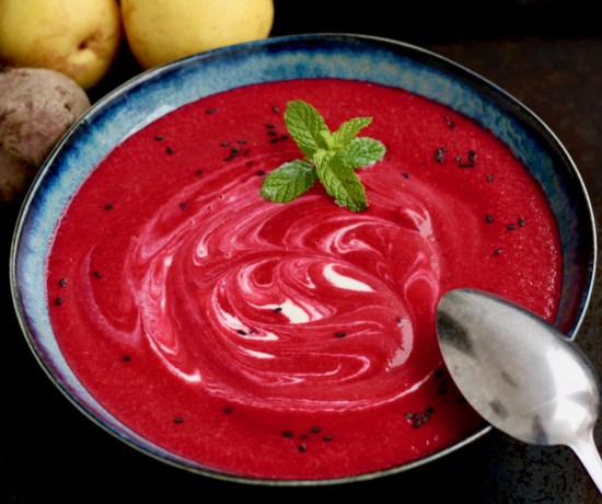 Rote Beete-Birnen-Suppe